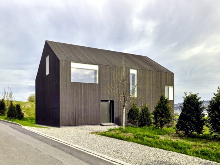 Rumah kayu minimalis dengan sentuhan klasik, ofdesign.net